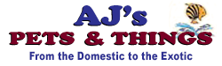 AJ's Pets and Things logo